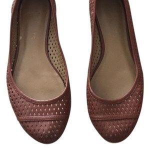 Talbots Camel Perforated Flats